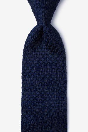 kötött nyakkendő_kék_selyem