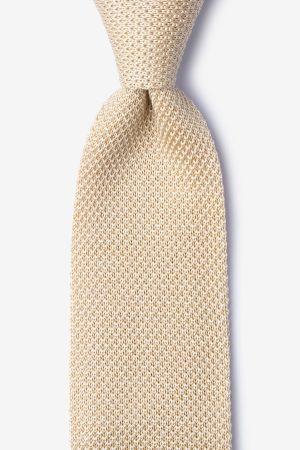 kötött nyakkendő_pezsgő_bézs_selyem