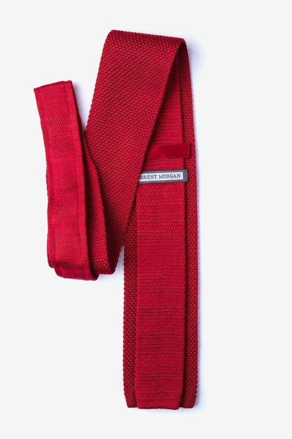 kötött nyakkendő_piros_selyem