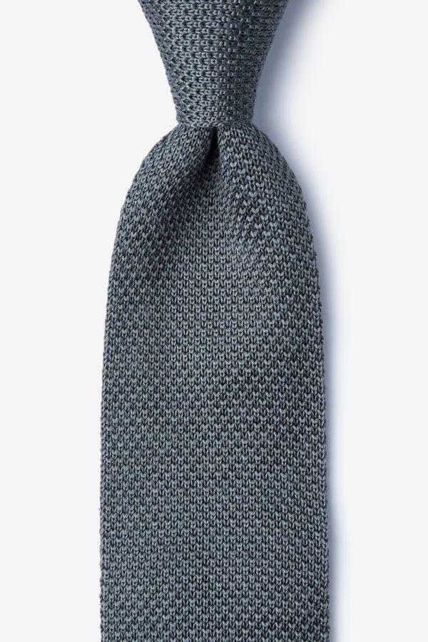 kötött nyakkendő_szürke_selyem