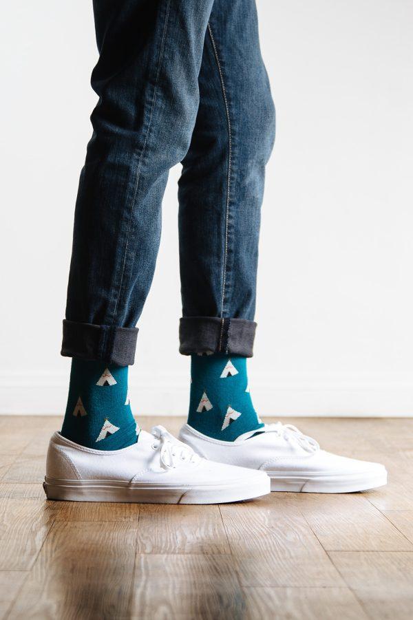 mintás zokni_kék_férfi