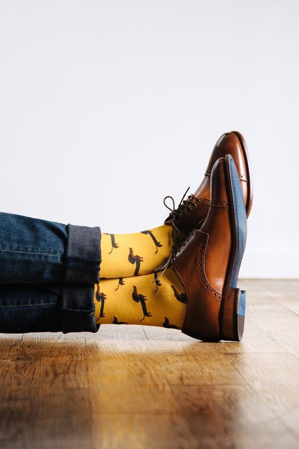 mintás zokni_sárga_férfi