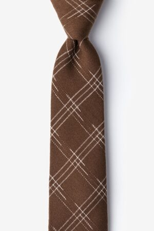 nyakkendő_barna_pamut