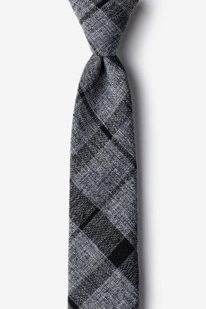 nyakkendő_fekete_szürke_pamut