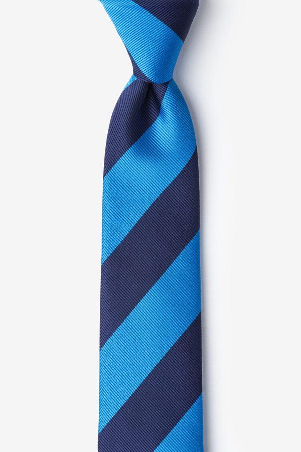 nyakkendő_kék_csíkos_microfiber