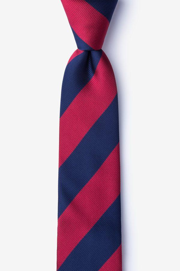 nyakkendő_kék_piros_bordó_csíkos_microfiber
