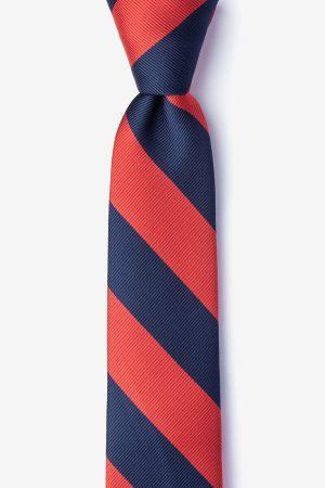nyakkendő_kék_piros_csíkos_microfiber