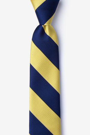 nyakkendő_kék_sárga_csíkos_microfiber