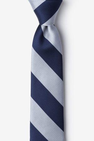 nyakkendő_kék_szürke_csíkos_microfiber
