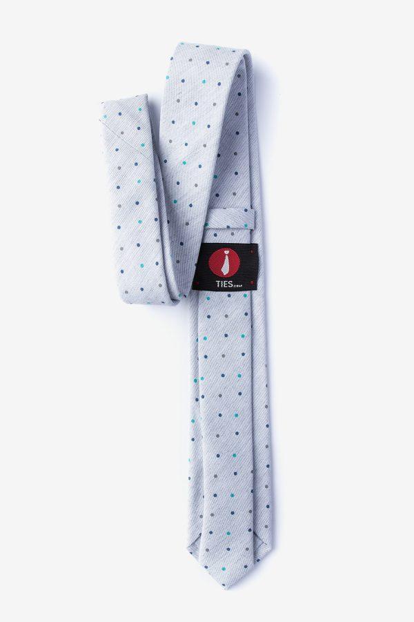 nyakkendő_pöttyös_szürke_pamut