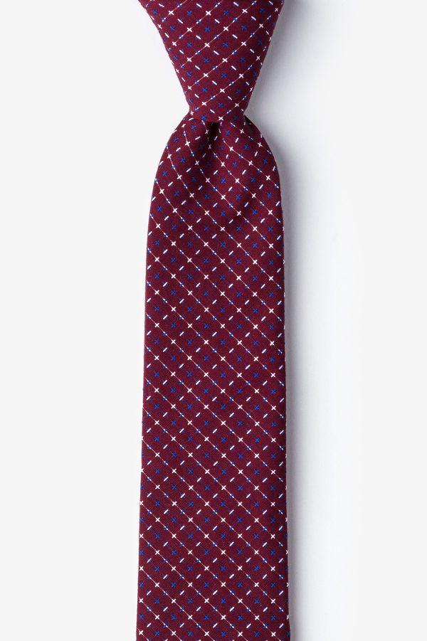 nyakkendő_piros_bordó_pamut