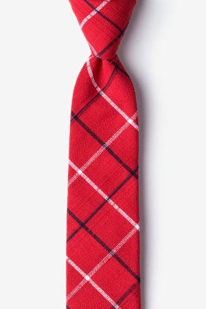 nyakkendő_piros_pamut