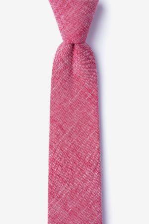 nyakkendő_piros_rózsaszín_pamut