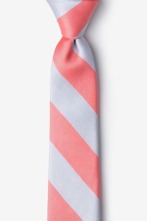 nyakkendő_rózsaszín_szürke_csíkos_microfiber