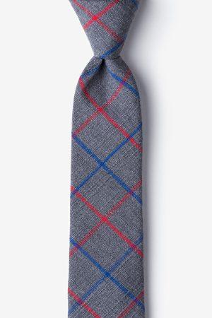 nyakkendő_szürke_pamut