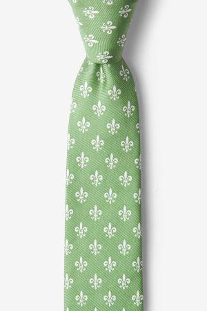 nyakkendő_zöld_mintás_selyem