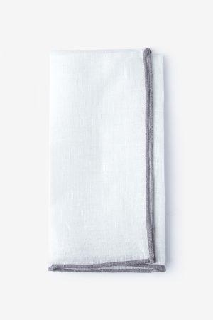díszzsebkendő_fehér_szürke szegéllyel_lenvászon
