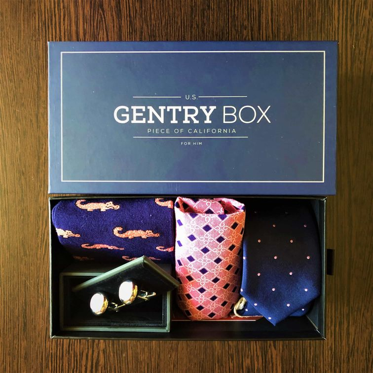 nyakkendő szett_kék-rózsaszín