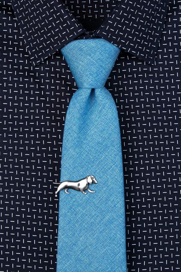 nyakkendőtű_ezüst_kutya