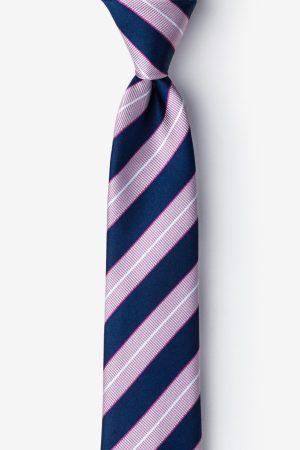 rószaszín_kék_selyem_nyakkendő
