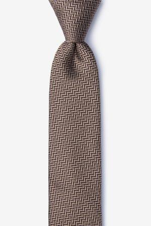 nyakkendő_barna_selyem