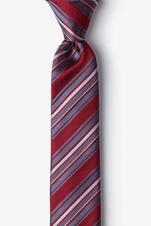 nyakkendő_piros_csíkos_selyem