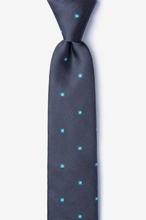 nyakkendő_szürke_pöttyös_selyem